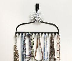 Rake rack jewelry display. BeadStyleMag.com