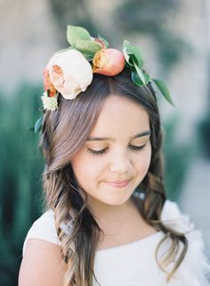 #halo-wreath, #flower-crown  Photography: Jen Huang Photography - jenhuangphotography.com  Read More: http://www.stylemepretty.com/2014/09/08/modern-tuscan-inspired-wedding-with-pops-of-color/