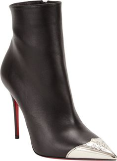 Christian Louboutin Black 'Calamijane' Ankle Booties €981 Spring 2014 #CL #Louboutins #Heels #Shoes