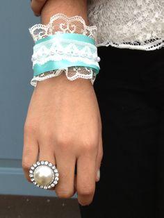 DIY Ribbon Cuff Bracelet