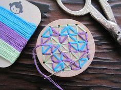 DIY embroidery kit - Curious Doodles