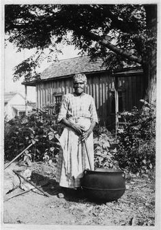ELLEN THOMAS, Ex-Slave, age 89 (c.1930-40).  Ellen's  training as a house servant involved setting the dining table complete for guests, blindfolded, serving without disturbing anything on the table...So proficient did she become in serving, that a few times when they had guests, Judge Kimball would for their amusement have Ellen blindfolded and direct her to serve the dinner. (Slave Narratives: A Folk History of Slavery in the United States from Interviews with Former Slaves.)