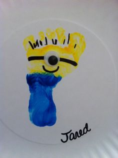 Did this Wednesday :) Despicable Me footprint craft