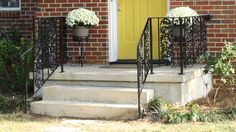 prepping, repainting, and repairing iron porch rails