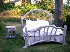 cabin, bed frames, dream, bedroom sets, driftwood bed