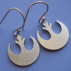 Small Star Wars Rebel Insignia Earrings by sudlow on Etsy, $28.00