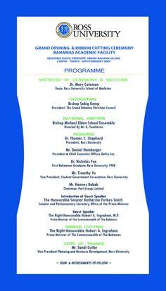 Grand Opening Program Template