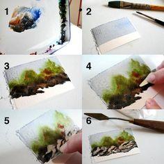 art blog, watercolor paintings, carv, draw tip tuesday, rita art, artwatercolor, paint tutori, rocks, watercolor painting techniques