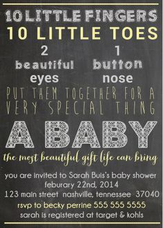 Baby Shower Invitation - Customizable