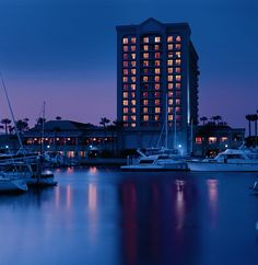 Ritz-Carlton, Marina del Rey at dusk