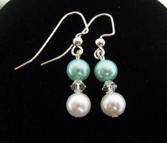 Tiffany Blue Earrings by TheTiffanyBlueShop on Etsy, $15.00