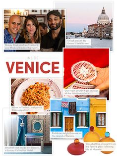 The insider's guide to Venice, from the city's most sought after fabric house: https://www.onekingslane.com/live-love-home/venice-travel-guide/