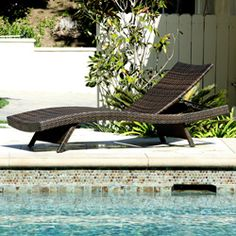 @Overstock - Add some stylish comfort to your patio decor with this wicker lounge. This lounge is weather resistant and has an adjustable back and folding legs for easy stacking.http://www.overstock.com/Home-Garden/Outdoor-Brown-Wicker-Adjustable-Chaise-Lounge/5735115/product.html?CID=214117 $245.39