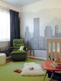 Ok, this is amazing! UFO-inspired nursery