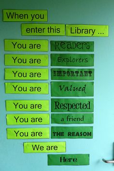 From the Eatons Hill State School Library (http://ehss3.edublogs.org/)'s Flickr photostream.  I love it!