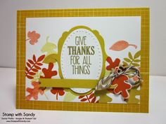 Stamp With Sandy: For All Things & Fall Fest, Stampin' Up