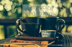 10 #Genealogy Things You Need to Know Today, Saturday, 12 July 2014, via 4YourFamilyStory.com. #needtoknow #familytree