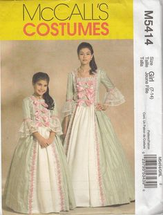 McCalls 5414 Early American Colonial Costumes for Mother and Daughter by SarahBethsCottage, $8.00 colonial costumes, coloni costum