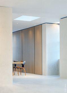 | DETAILS | MASTER DRESSING ROOM | Kevin Roberts Loft / Sam Trimble #details #full height doors, flush panels integrated hardware
