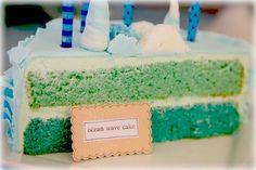 Ocean Wave cake Mermaid party.