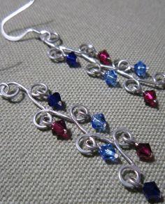 Jigged wire earrings.