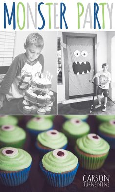 Simple ideas for a fun + affordable Monster Party.