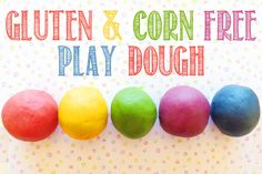 Gluten & Corn Free Play Dough Recipe | Childhood 101. Fabulous for children with allergies. challenges, dough recip, children, gluten free, food allergies, childhood, corn free, activ, playdough gluten