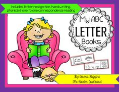 """My ABC Letter Books""  Includes 134 pages and focuses on letter recognition, handwriting, phonics, and 1 to 1 reading word correspondence with sight words. Click through to enter the FREE giveaway. #giveaway #thekindercupboard #kindercupboard"