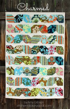 Charmed Quilt Pattern - 2 charm packs - by Amy Gibson