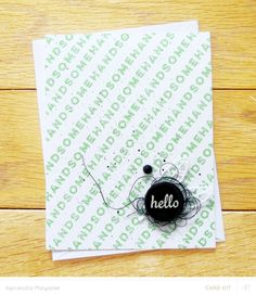 hello handsome by Aga_M at @studio_calico - stamped card