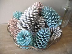 pinecones - spray paint any colour!