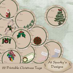 Free Printable Christmas Gift Tags - atsparkys.com