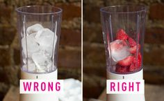 MISTAKE: You use too much ice in your smoothie. Use frozen fruit and just a few ice cubes to get the best of both worlds.