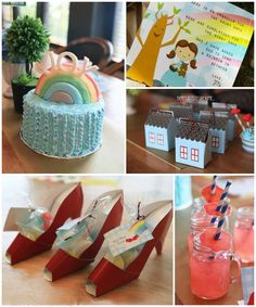 Over the Rainbow + Wizard of Oz themed birthday party with Lots of Really Great Ideas via kara's party ideas! full of decorating ideas, dessert, cake, cupcakes, favors and more! KarasPartyIdeas.com #wizardofoz #wizardofozparty #somewhereovertherainbow #partyideas #partyplanning #partystyling #partydecor (1)