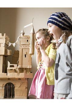 haha love the carton castle!