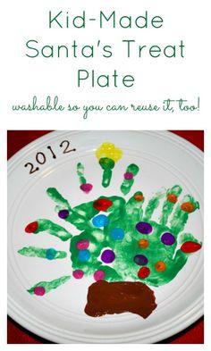 Washable Santa's Treat Plate - #Christmas