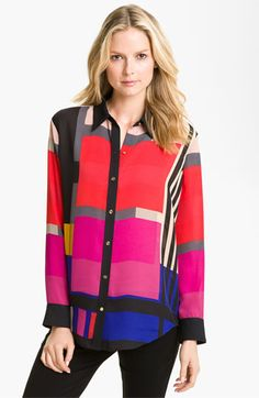 Chaus Mod Print Blouse available at #Nordstrom