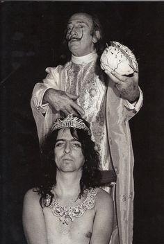 Alice Cooper and Salvador Dalí