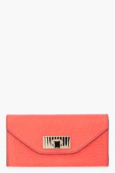 http://www.ssense.com/women/product/chloe/pink_sally_continental_wallet/46505