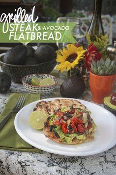 Grilled Steak & Avocado Flatbread // shutterbean
