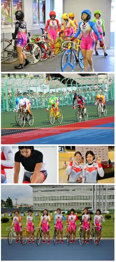 The Keirin - Women Track Cycling (fixed gear) and Bicycles Love Girls. http://bicycleslovegirls.tumblr.com