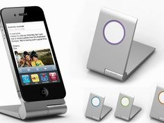 The zyroshell: The Best Aluminum Car/Desk Phone Cradle by G. Burt Lancaster, via Kickstarter.