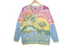 Storybook Knits Zombies In The Park Easter Ugly Sweater / Cardigan Women's Plus Size 1X $25