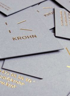 Krohn. Foil on Grey.