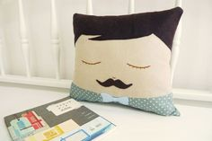 Handmade Plush / Cushion - Moustache George