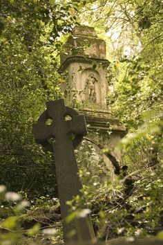Highgate Cemetery in North London, England.