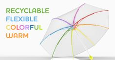 Completely recyclable umbrella. Shipping April 2014.  SOLUTION | Ginkgo Umbrella