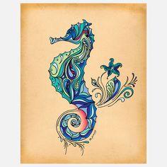 Seahorse 11x14...