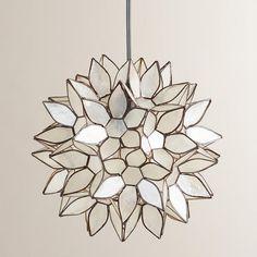 New Spring Collection featuring Small Capiz Lotus Hanging Pendant Lantern   #WorldMarket Home Decor Ideas, Lighting