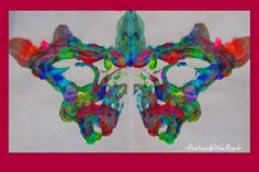 photo of: symmetry in butterfly painting for preschool, artwork for children, kindergarten